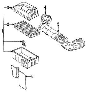 Imagen de Sensor de flujo de masa de aire Original para Ford Aerostar 1992 Marca FORD Remanufacturado Número de Parte F27Z12B579AARM