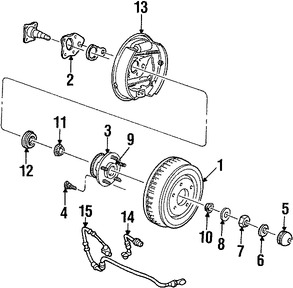Imagen de Tuerca de Eje Original para Ford Windstar 1998 1995 1996 1997 Marca FORD Número de Parte N802695S150
