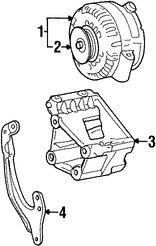 Alternador y regulador de voltaje para Ford Windstar 2001