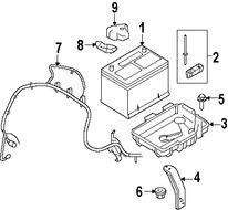 Imagen de Arnés de Cable de Batería Original para Ford Edge 2007 2008 Lincoln MKX 2007 Marca FORD Número de Parte 7T4Z14300AB