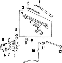Motor y Bomba de agua del limpiaparabrisas para Ford