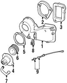 motor del ventilador aire acondicionado para ford ranger 1996