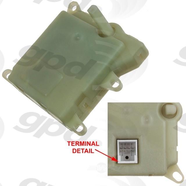 Imagen de Actuador puerta de Mezcla de Aire para Ford E-250 Econoline 2001 Marca GLOBAL PARTS Número de Parte 1711893