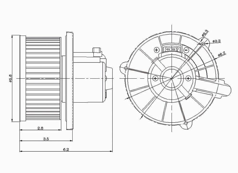 Imagen de Motor del ventilador HVAC para Kia Sportage 1998 1999 2000 2001 Marca GLOBAL PARTS Número de Parte #2311617