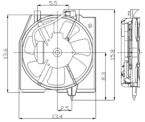 Imagen de Montura de ventilador de enfriado de motor para Mazda Protege5 2002 Marca GLOBAL PARTS Número de Parte 2811388
