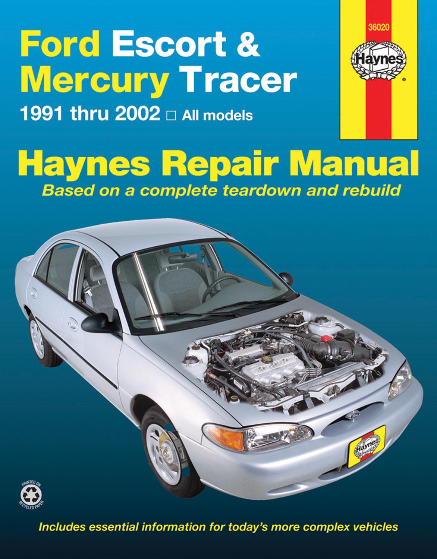 Manual de reparación para Ford Escort 1997 Marca HAYNES Número de Parte  36020