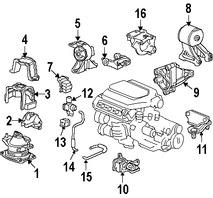 Montura de Transmisión Automática para Honda Accord