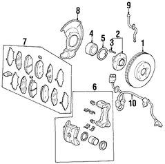 Imagen de Sensor de Velocidad Freno ABS Original para Honda Odyssey 2007 2008 2009 2010 Marca HONDA Número de Parte 57455SHJA02
