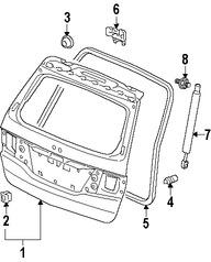 Imagen de Soporte Elevación Puerta Trasera Original para Honda Odyssey 2009 2010 Marca HONDA Número de Parte 74820SHJA21