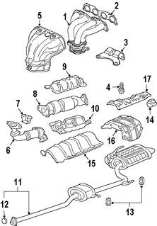 Empacadura de Múltiple de Escape Original para Honda