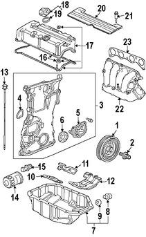 Imagen de Juego de Empacaduras Cubierta de la Válvula Original para Honda Accord 2007 Honda CR-V 2006 Acura TSX 2007 2008 Marca HONDA Número de Parte 12030RTA000