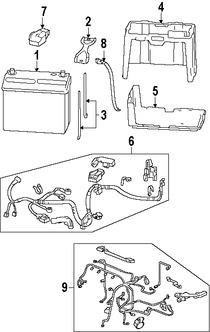 Arnés de Cables del Motor Original para Honda Civic 2006