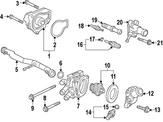 Acura Sprocket Driven 17t 13432rzp013 together with Radiador Motor Electrico Del Ventilador likewise Lexus Armrest Assembly 5892050181a1 besides 2005 Accessory Belt Diagram 806192 likewise Starter Bolts Oem P N 3235329. on acura rl on 22 s