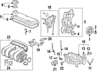 Imagen de Tapa de Valvula del Motor Original para Honda Fit 2015 2016 2017 Marca HONDA Número de Parte 123105R1003