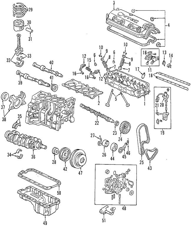 Válvulas de Escape y de Admision para Honda Accord 1997