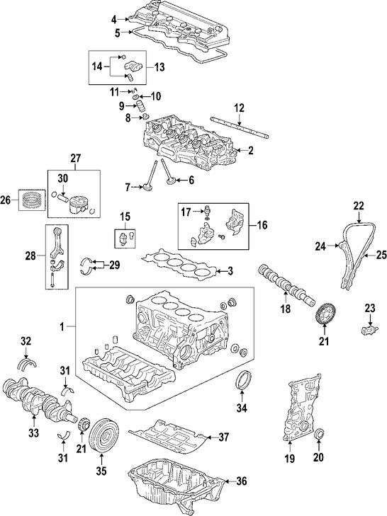 Culata del motor para Honda Civic 2006
