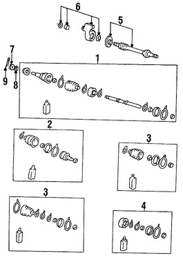 Imagen de Kit Junta Homocinetica Original para Hyundai Scoupe 1994 1995 Marca HYUNDAI Remanufacturado Número de Parte 4950823A01RM
