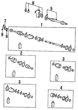 Imagen de Kit Junta Homocinetica Original para Hyundai Scoupe 1994 1995 Marca HYUNDAI Número de Parte 4950523B01
