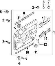 Imagen de Interruptor Liberador de Baúl Original para Hyundai Sonata 2007 2008 Marca HYUNDAI Número de Parte 935553K000CH