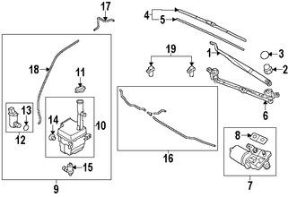 motor y bomba de agua del limpiaparabrisas para kia rio 2015