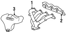 Imagen de Múltiple de Escape Original para Hyundai Scoupe 1995 Hyundai Accent 1996 1997 Marca HYUNDAI Número de Parte 2851122041