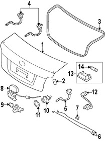 Bisagra de puerta del maletero para Hyundai Accent 2011