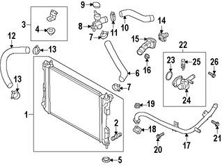 Cuello del Reservorio de Refrigerante de Motor Original