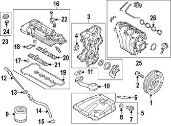 Sello Arandela Cubierta de Válvula Original para Hyundai