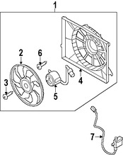 Imagen de Montura de ventilador de enfriado de motor Original para Hyundai Azera 2009 2010 2011 Marca HYUNDAI Número de Parte 253803L350
