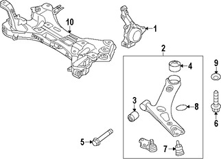 Rótula de Suspensión para Hyundai Accent 2014