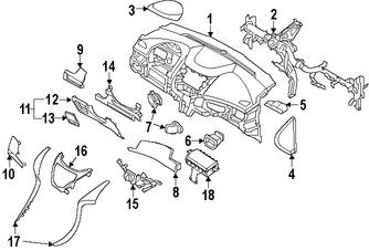 Imagen de Rejilla de Aire Ventilacion del Tablero Original para Hyundai Elantra 2011 2012 2013 Hyundai Elantra Coupe 2013 Marca HYUNDAI Número de Parte 974803Y000RA5