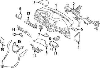Imagen de Rejilla de Aire Ventilacion del Tablero Original para Hyundai Elantra 2011 2012 2013 Hyundai Elantra Coupe 2013 Marca HYUNDAI Número de Parte 974803X000RA5