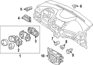 Imagen de Panel de Control de Termperatura Climatización Original para Hyundai Elantra GT 2016 2017 Marca HYUNDAI Número de Parte 97250A5AH0GU