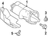 Imagen de Motor de arranque Original para Hyundai Santa Fe 2007 2008 2009 Marca HYUNDAI Número de Parte 361003E100