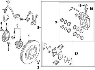 Imagen de Sensor de Velocidad Freno ABS Original para Hyundai Genesis 2015 2016 Marca HYUNDAI Número de Parte 59810B1030