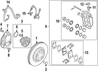 Imagen de Sensor de Velocidad Freno ABS Original para Hyundai Genesis 2016 Marca HYUNDAI Número de Parte 59830B1330