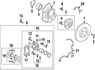 Guía del Pasador de Caliper Original para Kia Hyundai