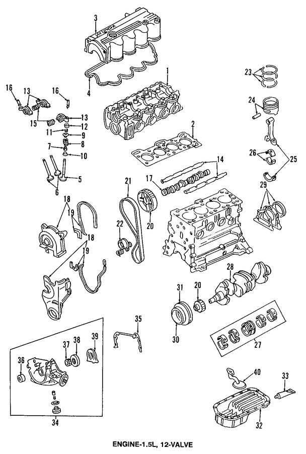 Sello del cigueñal del motor para Hyundai Excel 1993
