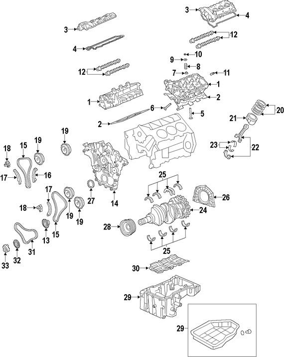 Imagen de Cadena del Tiempo del Motor Original para Kia Cadenza 2017 Marca HYUNDAI Número de Parte 243223CGD0