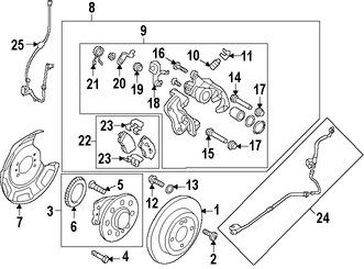 Tornillo de Caliper de Freno Original para Hyundai Accent