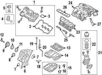 Elemento del Filtro de aceite del Motor Original para Kia