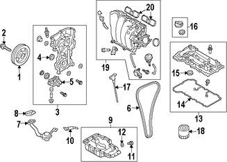 cadena del tiempo del motor original para hyundai elantra