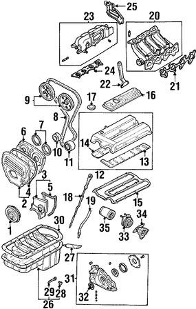 Tapón de Drenaje de Aceite del Motor Original para Kia