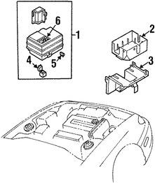 Caja de Fusibles Original para Kia Sephia 1999 2000 2001