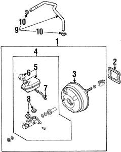 Cilindro Maestro De Freno Kit De Reparación Para Kia Sorento I 1
