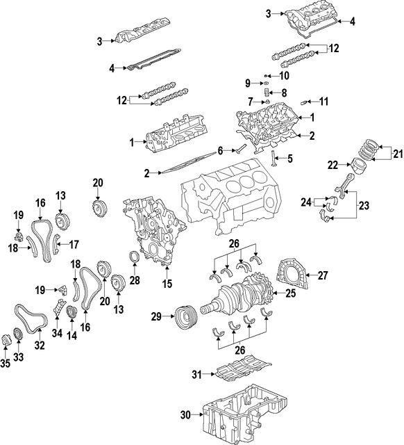 Imagen de Piston Original para Hyundai Azera 2009 2010 Marca KIA Número de Parte 230413C512