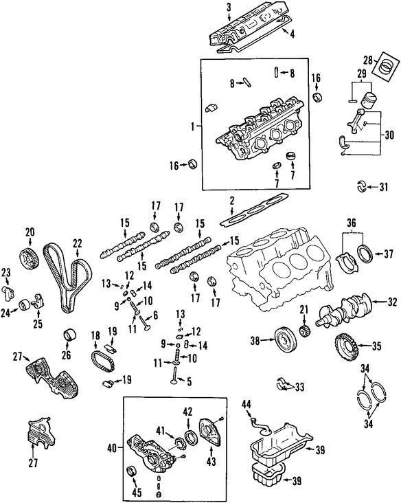 Sello del árbol de levas Original para Hyundai Kia Marca