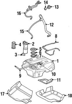 Imagen de Tapa del tanque de combustible Original para Land Rover Freelander 2002 2003 2004 2005 Marca LAND ROVER Número de Parte WLD000040PMA