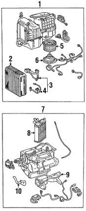 Imagen de Válvula de Expansión Aire Acondicionado Original para Lexus LS400 1990 1991 1992 Marca LEXUS Número de Parte 8851550060