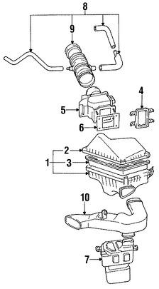 Imagen de Sensor de flujo de masa de aire Original para Toyota Camry 1992 1993 Lexus ES300 1992 1993 Marca LEXUS Número de Parte 2225062040